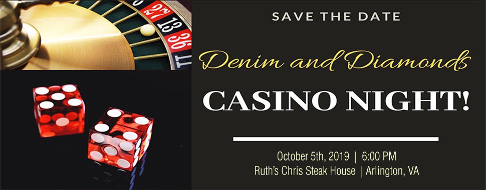Denim and Diamonds Casino Night Save the Date